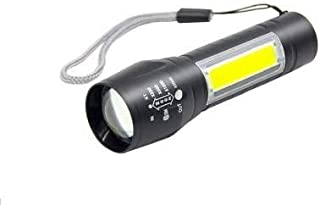 Care 4 Plastic Rechargeable Flashlight with Hanging Rope, Multicolour, Pack of 1 COB work light, 1 USB Cable, 1 Tail rope