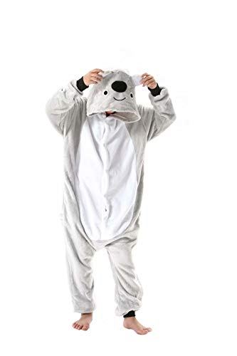 EUFANCE Bambini Unisex Pigiama Caldo Flanella Tuta Animali Cosplay Cartoon Halloween Natale Partito Loungewear Costume