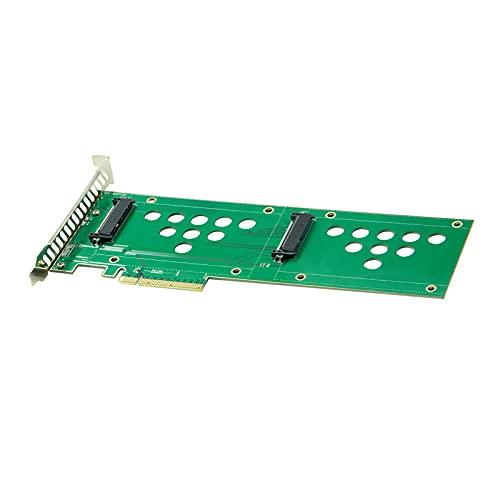 MERIGLARE SSD a Pcie X8 3.0 Adaptador SFF-8639 Placa Adaptadora Pcie Pcie Riser 2 Puertos