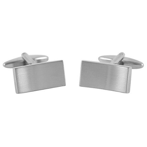 Lindenmann Cufflinks/Cuff Buttons, Silvery, with Gift Box, 10099