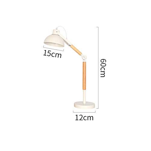 Lampen boekenlamp tafellamp leeslamp licht leren moderne roterende tafellampen hout LED tafellamp met ijzeren kap wit of zwart tafellamp leeshoek hoek verstelbaar
