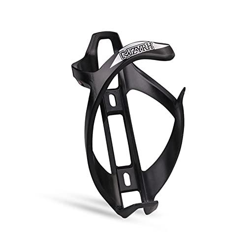 Hwtcjx portabidones Bicicleta, Soporte Botella Bicicleta, 1 Pieza portabotellas Bicicletas, Hecho de Material ABS, a Prueba de Golpes, para Bicicleta, Bicicleta de montaña (15 x 7,5 x 8cm, Negro)