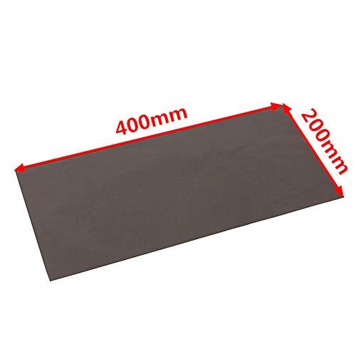 Thermische geleidende siliconen pad niet giftig gemakkelijk te installeren slijtvaste universele brandvertragende anti-statische koelvloeistof koelchip 400x200x1.5mm Solid GPU CPU Zacht Zwart