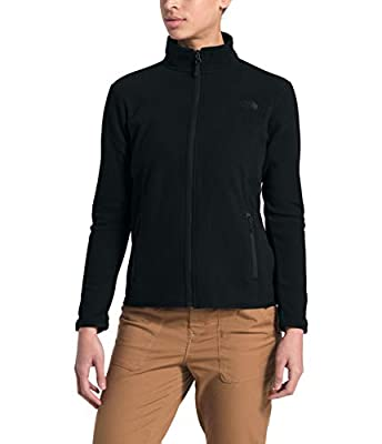 The North Face Women's TKA Glacier Full Zip Jacket, TNF Black/TNF Black, Medium