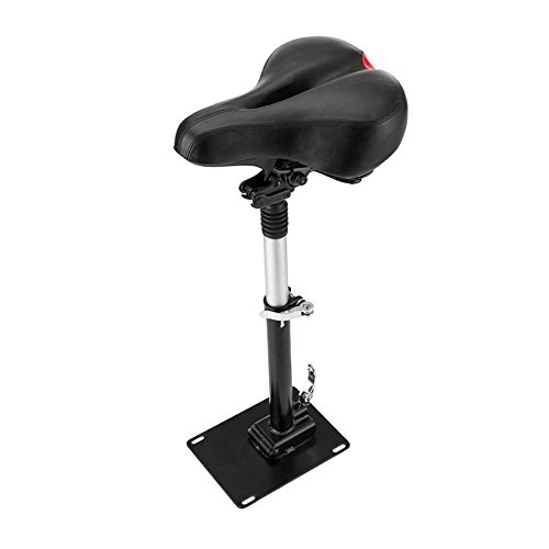 Lixada Electric Skateboard Saddle Compatible with Mijia M365 Scooter Foldable Height Adjustable Shock-Absorbing Folding Seat Chair
