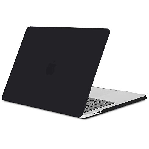 TECOOL Funda MacBook Pro 15 2016/2017/ 2018/2019, Slim Cubierta de Plástico Dura Case Carcasa para Apple MacBook Pro 15,4 con Touch Bar y Touch ID (Modelo: A1707 / A1990) -Negro