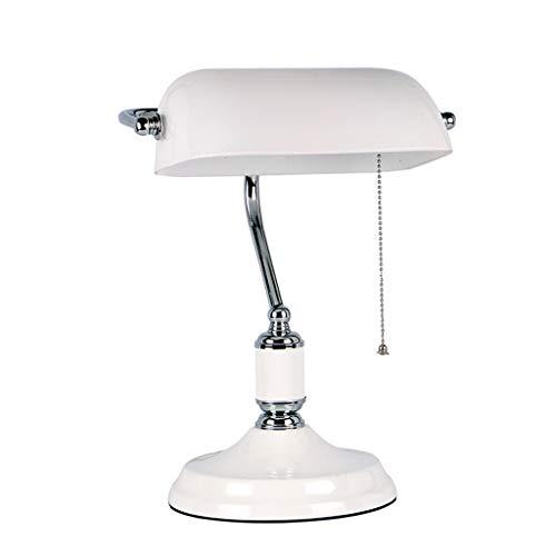 Lixin Nachtlampen, tafellamp, melkglas, lampenkap, metalen lamp, lichaam, kantoor, woonkamer, studie slaapkamer