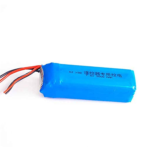 Onlyguo 7.4V 3000mA Replacement Battery for Frsky Taranis X9D Plus Transmitter with JST