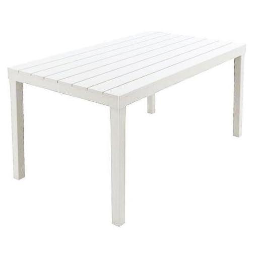 Tavolo Sumatra – 01793, Colore Bianco, 138 x 80 x 8 cm, tessuto, quadrato