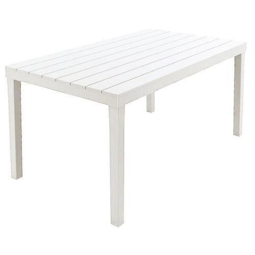 Tavolo Sumatra - 01793, Colore Bianco, 138 x 80 x 8 cm, tessuto, quadrato