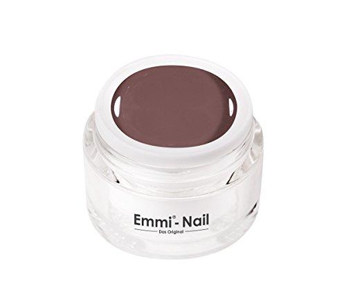 Emmi-Nail Farbgel Nude Taupe: UV-Gel für glänzendes Finish, hohe Deckkraft, grau-braun, mittelviskos, kein Verlaufen in die Nagelränder, 5 ml