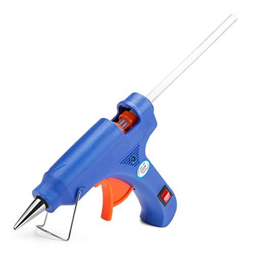 Powerextra Mini Pistola de Silicona Caliente 20W - Pistola de Pegamento con 50pcs Barras para Manualidades DIY Reparaciones en el Hogar Art Reparaciones Decoración del Festival