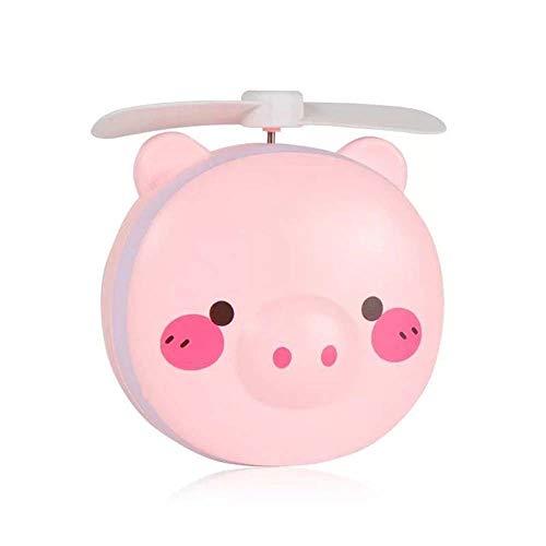 LaLa POP Piggy USB Beauty Espejo Bolsillo Fan USB De Carga Mini Ventilador De Mano Tres En Uno Espejo De Maquillaje Espejo Multifunción Pequeño Ventilador Pequeño (Color : A)