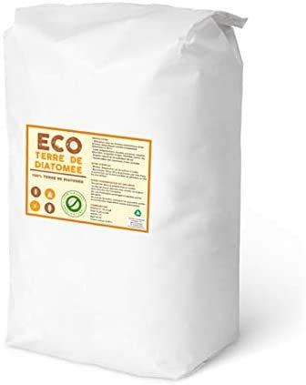 ECO Livraison 24-48h Terre de Diatomee 25kg | Non Calcinée | Alimentaire E551c | 100% Naturel et écologique | Naturel Contre Les Insectes