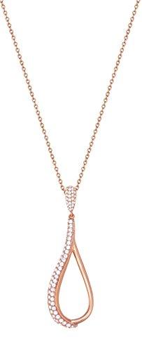 ESPRIT Glamour Damen-Kette mit Anhänger ES-DARIA ROSE teilvergoldet Zirkonia transparent 80 cm - ESNL02948C800