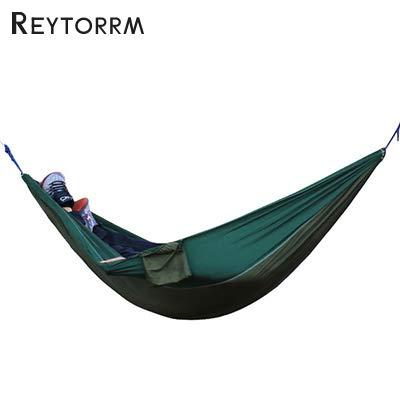 Bureze Charge 200 kg Roulement Hamac Parachute pour 1 2 Personnes pour Camping Relax à Suspendre Sapin de Couchage lit en Nylon Hamac Chaise hamac