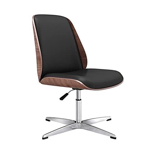 bjyx Silla plegable con pintura de chapa para oficina, trípode de aleación de aluminio, silla de conferencia, silla giratoria para despedirse de camping (color: negro, tamaño: pie fijo)