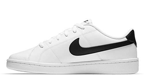 Nike Court Royale 2 Low, Zapatos de Tenis Hombre, Blanco y Negro, 39 EU
