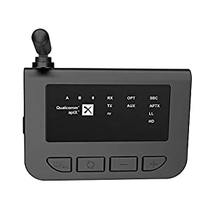 Wireless Transmitter Receiver,Proslife Long Range Wireless V5.0 Transmitter Receiver 30 Meter for TV Audio,Home Stereo Speakers,Optical Digital and Car