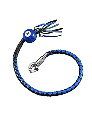 """Biker Whip 36"""" Motorcycle Get Back Whip with ball, Handlebar Accessories for motorbike. from GARGOYLE BELLS"""