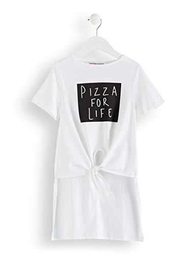Amazon-Marke: RED WAGON Mädchen T-Shirt Pizza For Life-Slogan, Weiß, 104, Label:4 Years