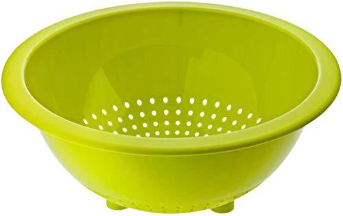 Rotho Rondo Küchensieb, Kunststoff (PP) BPA-frei, grün, 32,5 x 26,5 x 13,0 cm