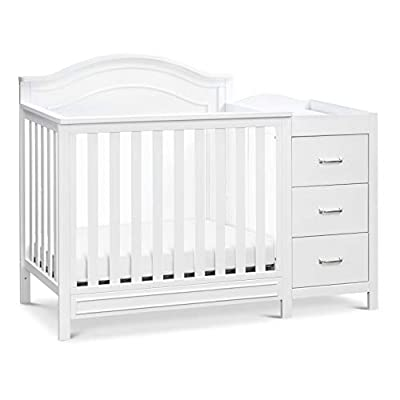DaVinci Charlie 4-in-1 Convertible Mini Crib & Changer in White, Greenguard Gold Certified from AmazonUs/DDLQ9