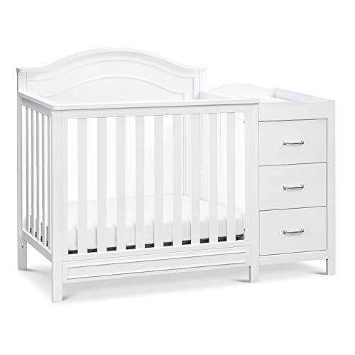 DaVinci Charlie 4-in-1 Convertible Mini Crib & Changer in White