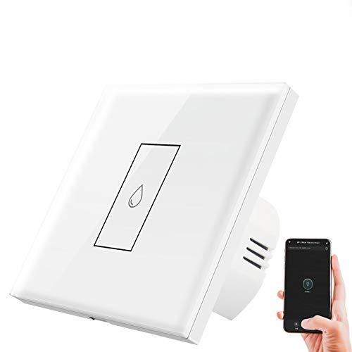 Interruptor inteligente para calentador de agua WiFi, aplicación Tuya y control remoto por voz, interruptor táctil, se necesita cable neutro, funciona con Alexa Google Home