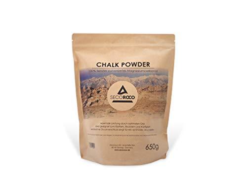 Secoroco Chalk zum Klettern, 650g feines Chalk Powder, Magnesiumcarbonat zum Klettern, Bouldern und Fitness, Beutel mit Druckverschluss