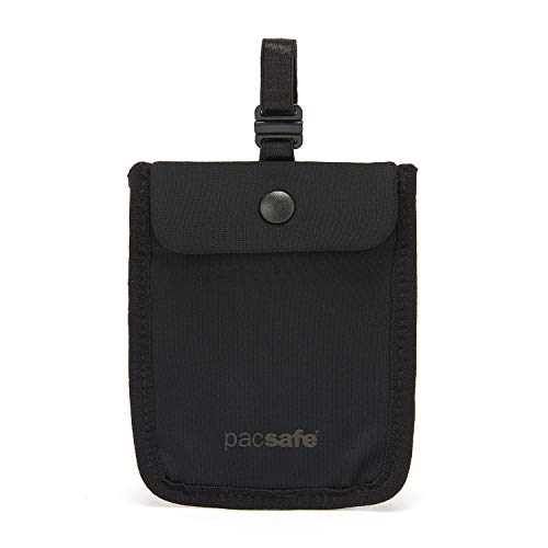 Pacsafe Coversafe S25 Hidden Undercover Travel Bra Pouch for Women, Washable, Black, One Size