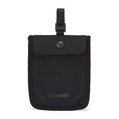 Pacsafe Coversafe S25 - Funda para sujetador antirrobo, Coversafe S25 - Bolsa de viaje oculta para mujer, lavable, Negro, Una talla