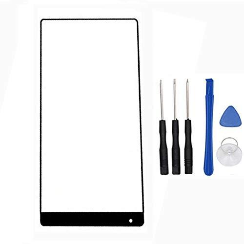soliocial Reemplazo de Pantalla Frontal de Vidrio Exterior para Xiaomi Mix 2S/ Mi Mix 2S (Not LCD and Not Digitizer) Negro