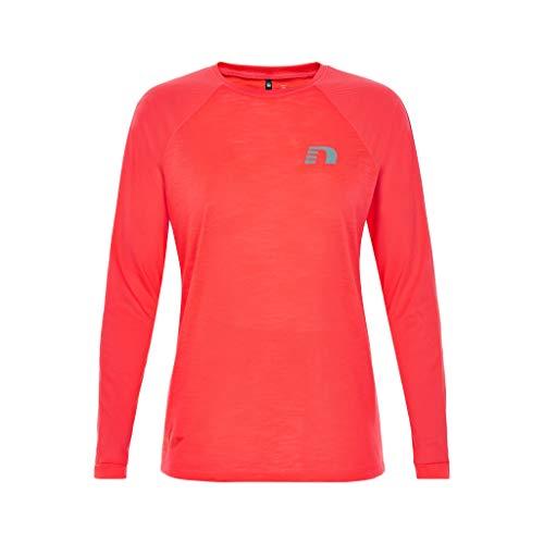 NewLine Black Light T-Shirt de Course Thermique pour Femme Coral : M