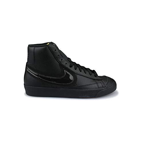 Nike Wmns Blazer Mid '77, Zapatillas de bsquetbol Mujer, Black Black Dk Grey, 40.5 EU