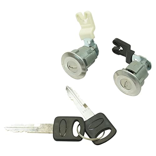 1A Auto Door Lock Cylinder & Keys Set of 2 Compatible with Ford Mercury Mazda...