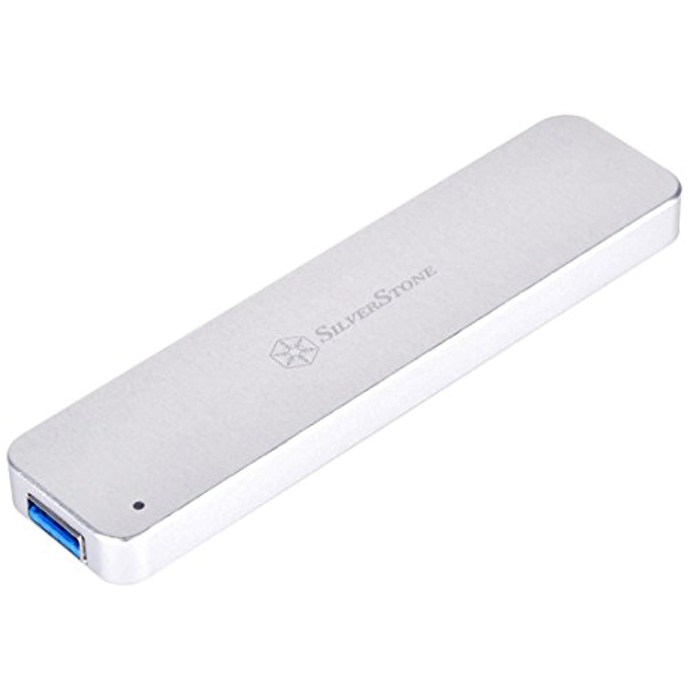 バドミントン最愛の死SilverStone USB 3.1 Gen 10Gb/s ポケット型M.2 2260/2280 Type-Aエンクロージャー SST-MS09S(シルバー)