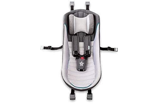Qeridoo Babyschale für Kinderanhänger - hellgrau