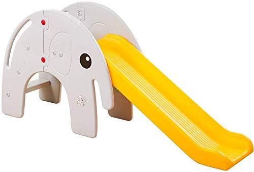 XIN Kids Freistehende Rutschen Kinderrutsche Indoor-Faltrutsche Multifunktions-Babyrutsche Elefant Kindergartenrutsche Geeignet für 3-6 Jahre Baby Babyspielplatz,Gelb,166 * 36 * 77cm