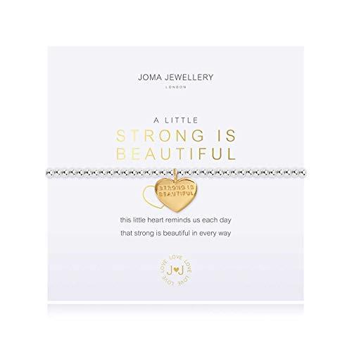 Joma Jewellery A Little Strong is Beautiful Silver Bracelet | 17.5cm Stretch