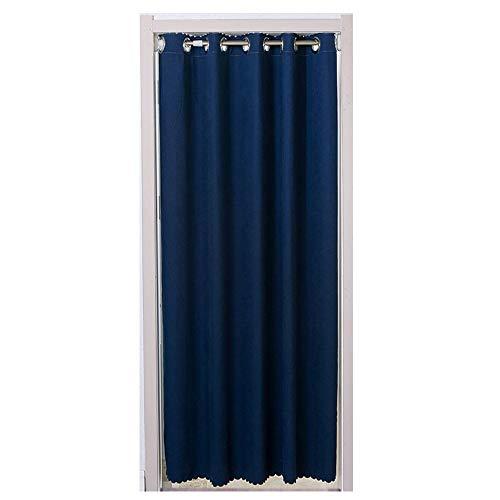 ZYQDRZ Cortina Decorativa casera de la Puerta Cortina Opaca aislada térmicamente,Blue,250x180cm