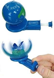 Warm Fuzzy Toys Blue Butterfly in Wildlife Spinner Globe