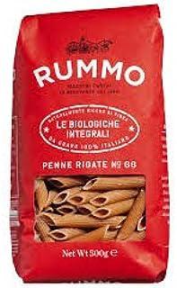 Rummo Lenta Lavorazione - Penne Rigate Organic Whole Wheat (No. 66) 500g - Pack of 5