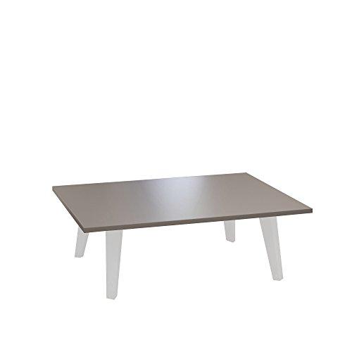 Symbiosis salontafel met voeten, taupe, andere, wit, 89 x 67 x 28,2 cm
