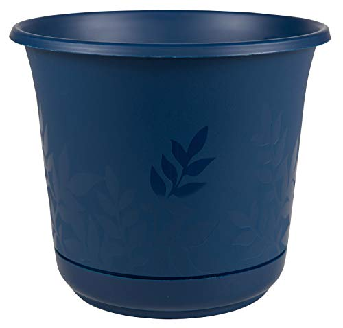 Bloem Freesia Planter w/Saucer, 6', Deep Sea (FP0631), 6'