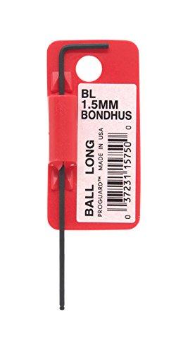 Starrett 15750 Cles coudees longues a boule metrique avec code barres, Rouge