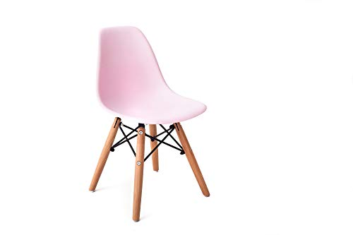 Kinder-Tisch im Eiffel-Stil mit 2 oder 4 Kunststoffstühlen im Eiffel-Stil, Mehrzweck-Aktivitätstisch mit Stühlen (weiß, rosa, blau), rose, x2 chairs only