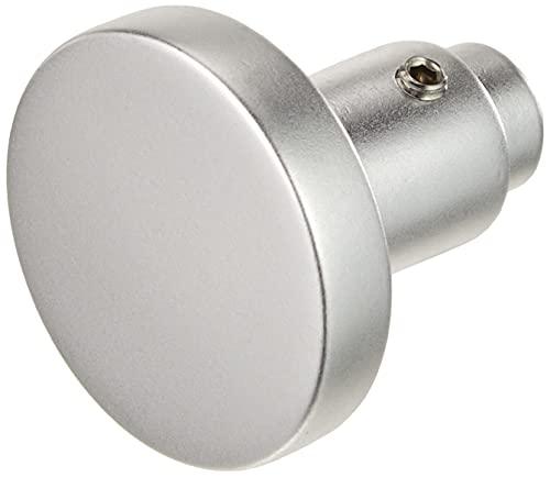 Alpertec 40111960K1 Aluminium Knopf - Lochteil F1 silber eloxiert Ø 50 MM Drückergarnitur Türdrücker Türbeschläge Neu