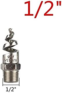 """SHUOYUE 3/8"""" 1/2"""" 3/4"""" Male Thread 316L Stainless Steel Spiral Jet Nozzle Full Cone Sprinkler Garden Lawn Irrigation Water..."""