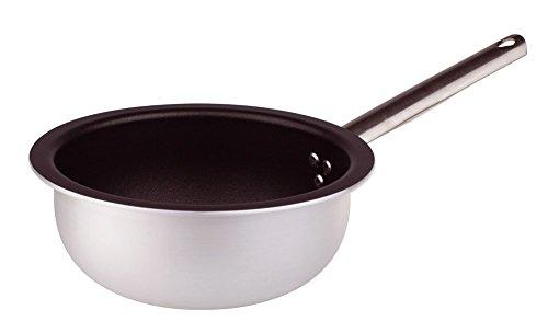Kookpan met antiaanbaklaag voor saltapasta roeren en dikke rijst, 3 millimeter met duwbeugel, stalen buis, diameter 200 mm Cod. alsa111bms20